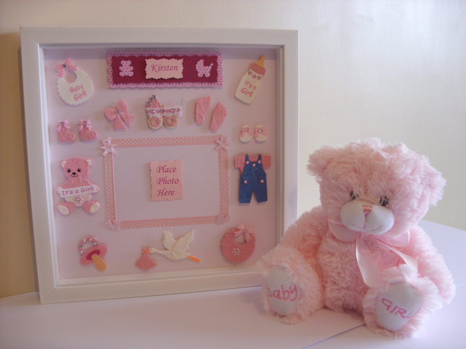 Personalised New Baby Gift Baby Girl 12 Quot X12 Quot 3d Box Frame