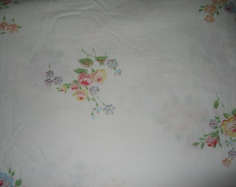 Full Fitted Pepperell Sheet/ Roses/Shabby Chic