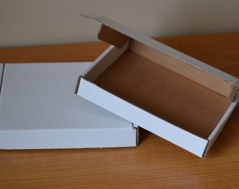 Pack of 10 Small cardboard boxes 150mm x 125mm x 25mm / 5.9x4.9x1""