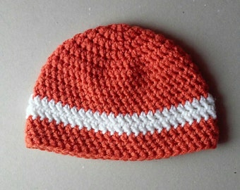 Crochet hat, crochet beanie, orange hat