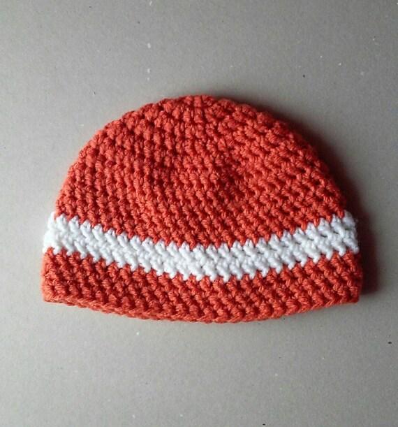 Crochet hat, crochet beanie, orange hat