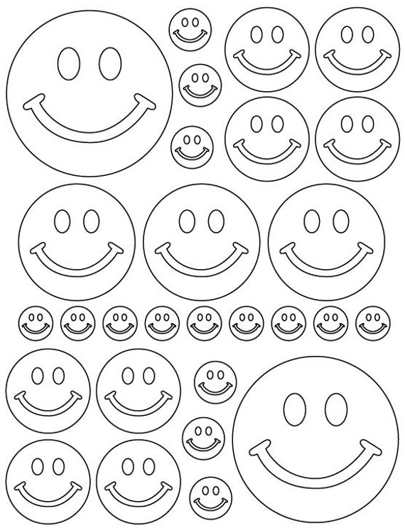 56 White Smiley Face Vinyl Polka Dots Bedroom Wall Decals Stickers Teen Kids Baby Nursery Dorm Room Removable Custom Made Easy to Install