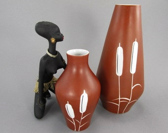 SALE Set of 2 vintage vases / Lichte, Bock und Teich | East German Pottery | 50s