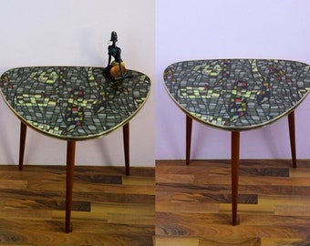 Vintage kidney table, side table, coffee table | unique | 60s | Germany