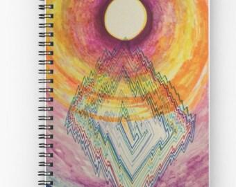 Moon Portal Spiral Notebook