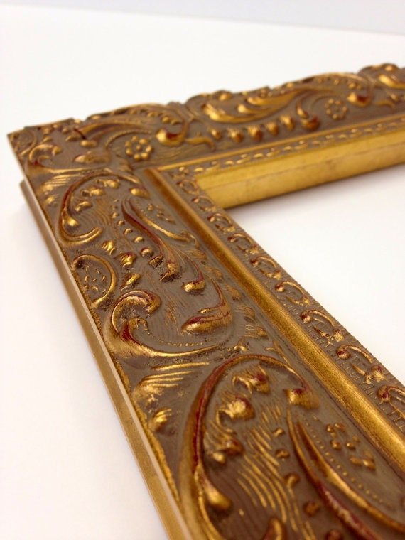 gold ornate paisley picture frame 3x5 4x6 5x7 8x10 11x14 16x20