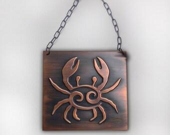 Metal wall art, copper art,  Copper relief ,  copper decor, metal plaque, zodiac sign