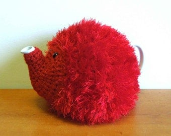 Small Dog Knitting Patterns : Hedgehog teapot Etsy