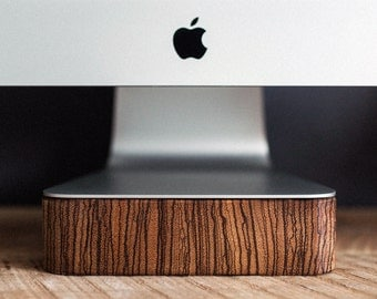 iMac, Thunderbolt Computer Stand - Zebra Wood, Handcrafted, Handmade, Made in Canada