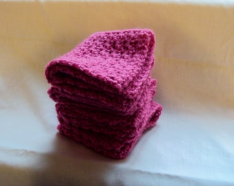 Set of 4 Pink Wash Cloths- Baby Wash Cloth- Cyber Monday Sale
