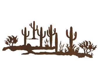 """Desert Scene Steel Wall Art 42""""x 16"""""""