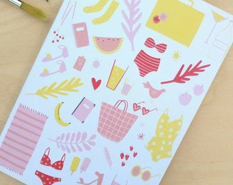 Illustrated Notebook A6 Blank or Lined