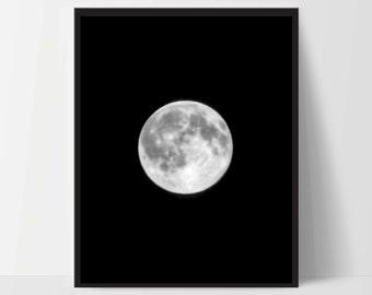 Moon Phase Art Prints, Moon Wall Art, Moon Print Art, Night Sky Artwork, Moon Home Decor, Moon Wall Decor, Dorm, Artwork, Decor