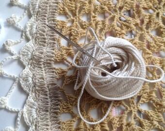 Crochet shawl .