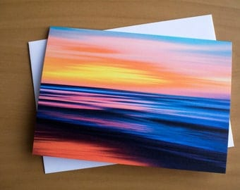 Greeting cards blank greeting cards photo greeting cards abstract art seascape abstract photography blank note cards with envelopes