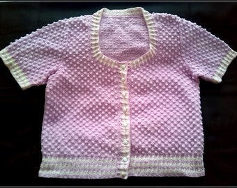 Hand knitted pink blouse
