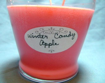 16 oz Winter candy apple soy candle