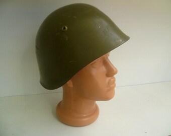 Vintage military Bulgarian army helmet , Army helmet, Military Helmet,