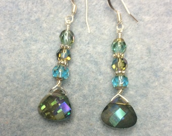 Sparkle briolette dangle earrings