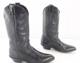 Cowboy Women black western boots size 6.5