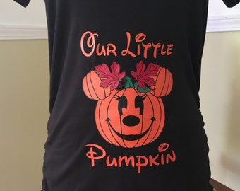 Halloween Disney Maternity, Minnie Pumpkin, Disney Inspired Mickey Pumpkin Halloween Maternity Shirt