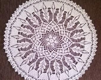 Large Linen Crochet doily