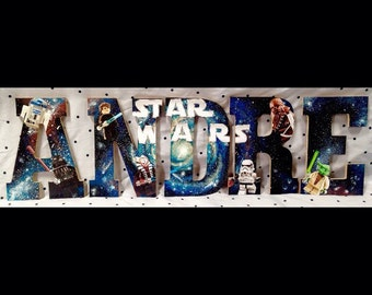 Star Wars wood letters