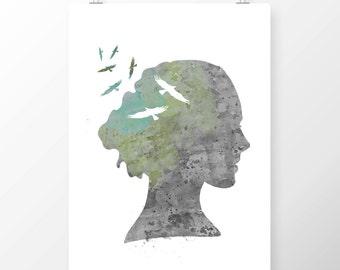 Art Print Away With The Birds