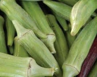 Clemson Spineless Okra Seeds, Heirloom, Abelmoschus Esculentus, Herb, Fruit, Vegetable