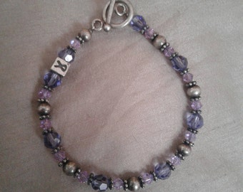 Swarovski Awareness Ribbon bracelet