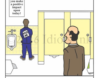 Bathroom Humor men's room humor cartoon bathroom humor print hate | etsy