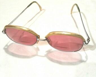 Dorine sunglasses fashion vintage pink glass
