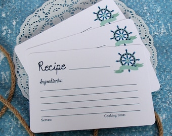 Recipe Cards - Set of 24 Recipe Cards - 4x6 White Recipe Cards - Hostess Gift - Bridal Shower Games - Housewarming Gift - Unique Foodie Gift