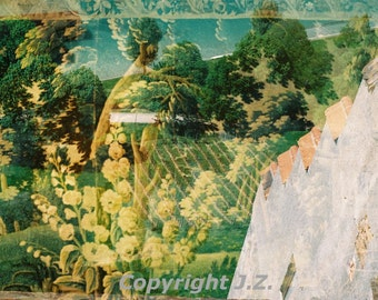 Castle Burghausen, Print, Fine Art Photography, Double Exposure, Antique Painting