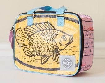 Upcycled Box Bag - Yellow