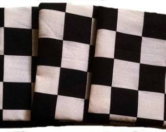Checker Board with Black Back Cornhole Bags