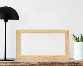 "6x12x1"" Unfinished Wood Frames Glass/Back, Art frames, Craft frame, Picture Frame, Panoramic Photo Frame, Needlepoint frames Odd shape frame"