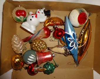 Christmas Ornaments Vintage and some Antique