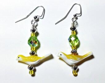 Lampwork Bird Earrings
