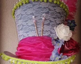 Mad Hatter hat/bluepink/Alice in wonderland/hat