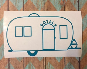 Camping Decal; Happy Camper; Camping Decor; Camping Signs; Camper Decor; Camper Sign; Camper Decal; Personalized Camper, RV Camping