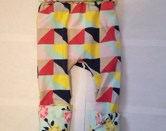 Color play/pattern and floral/ girl maxaloones/ girl pants