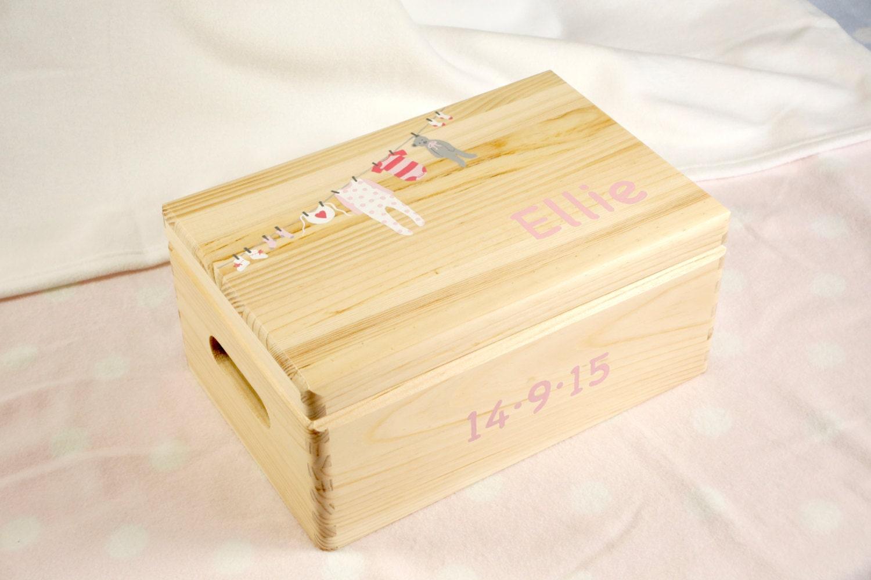 personalised baby keepsake box baby memory box baby girl. Black Bedroom Furniture Sets. Home Design Ideas