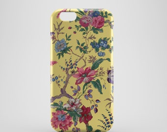 Yellow Floral Phone case,  iPhone X Case, iPhone 8 case,  iPhone 6s,  iPhone 7 Plus, IPhone SE, Galaxy S8 case, Phone cover, SS132b