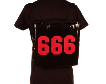 666 Vinyl Club Kid Backpack Rave Cyber Goth Custom All Colors