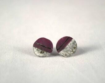 Porcelain Ceramic Stud Earrings