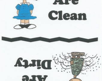 Lucy, Pig Pen,  Dishes Are Clean, Dishes Are Dirty, Magnet,   NEW Customer Request