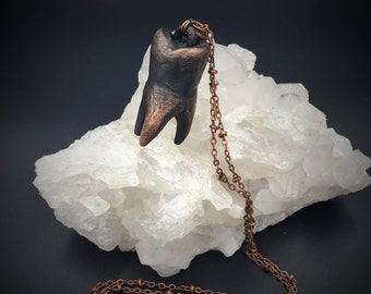 Human Tooth Necklace | Electroformed Jewelry | Hand Sculpted