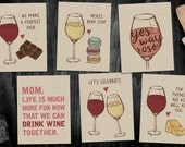 6 Wine Cards - You Pick! Blank Cards, Wine Cards, Wine Lovers, Just Because, Thank You, Girlfriends, Wine Pairing, Cool Wine Cards