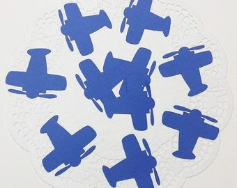 """Airplane Die Cuts Embellishments Confetti: Blue (Primary Cardstock) 2.31"""" x 2.4"""""""
